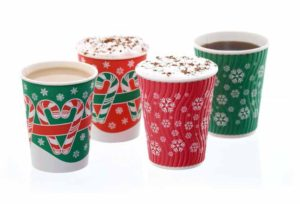 Christmas hot cups
