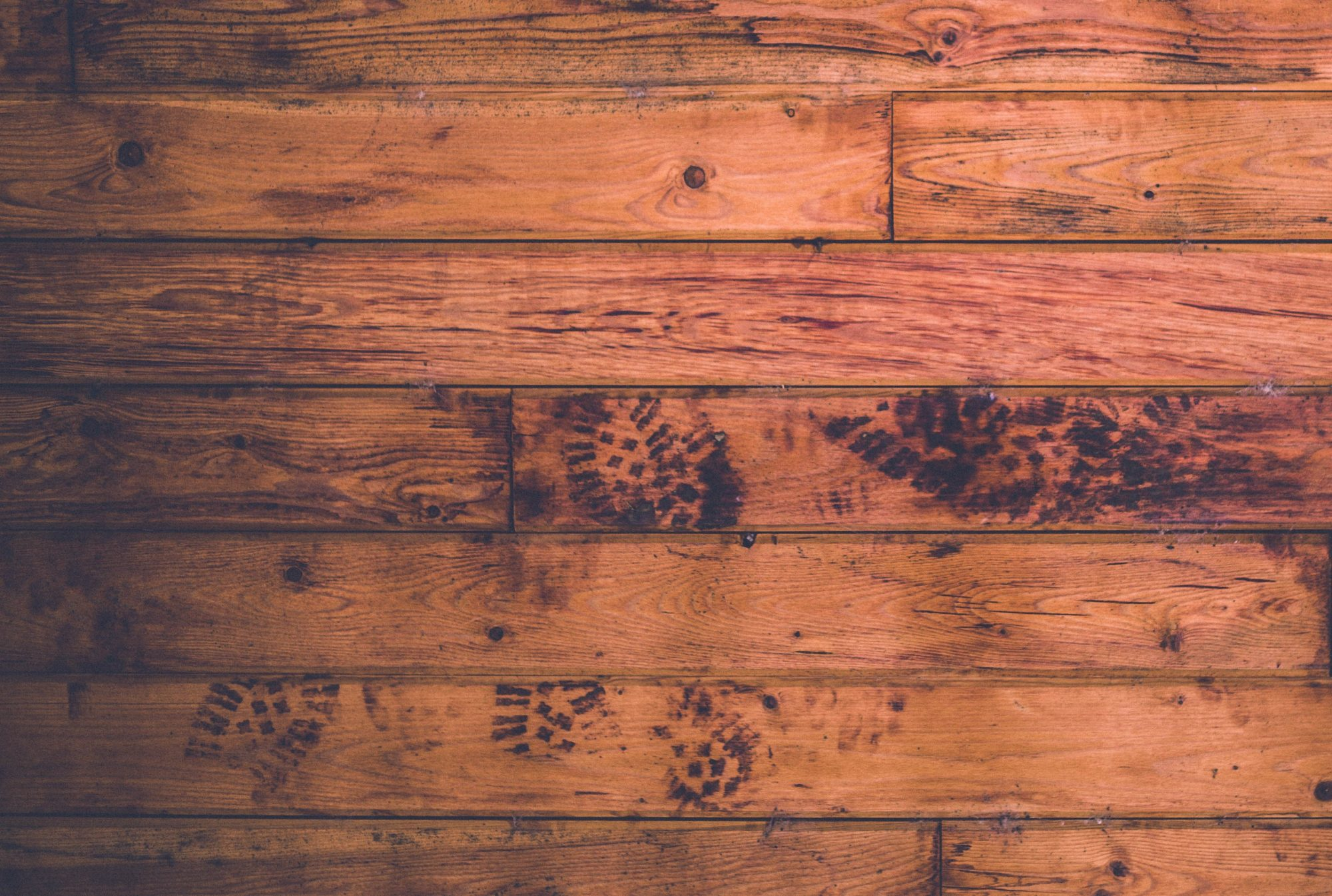 Messy wooden floor