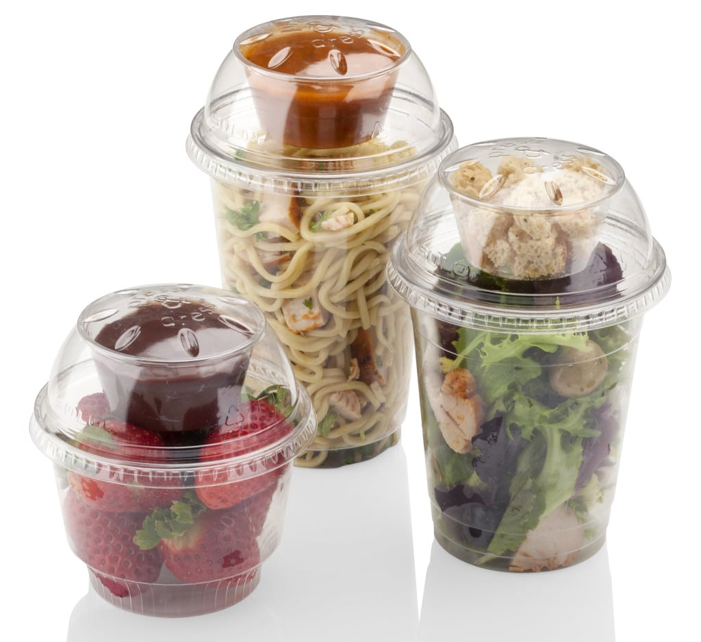 press&dress lids for UltraClear food containers from Dart Products Europe