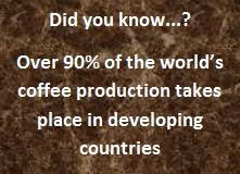 Did you know...? Over 90% of the world's coffee production takes place in developing countries