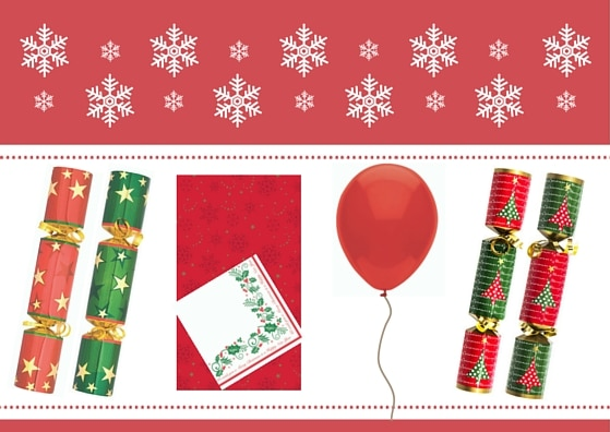 Green and Red Christmas Tableware