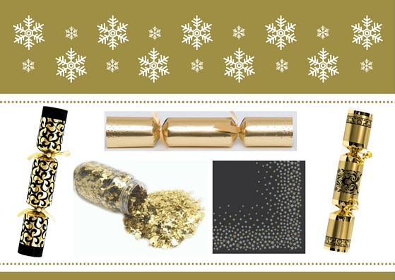 Black and Gold Christmas Tableware