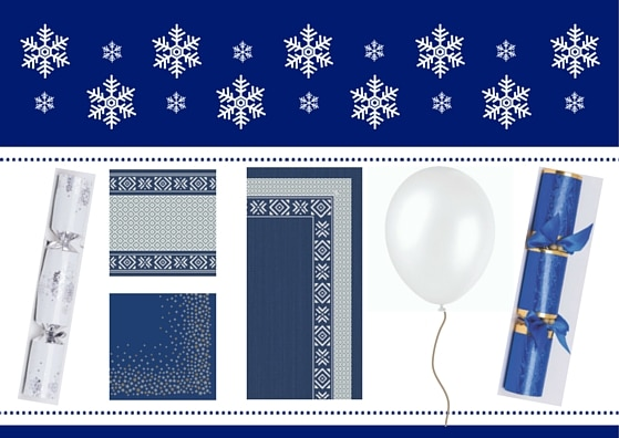 Blue and White Christmas Tableware
