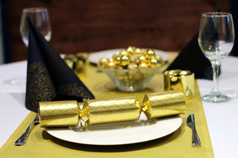 Christmas Black and Gold Tableware
