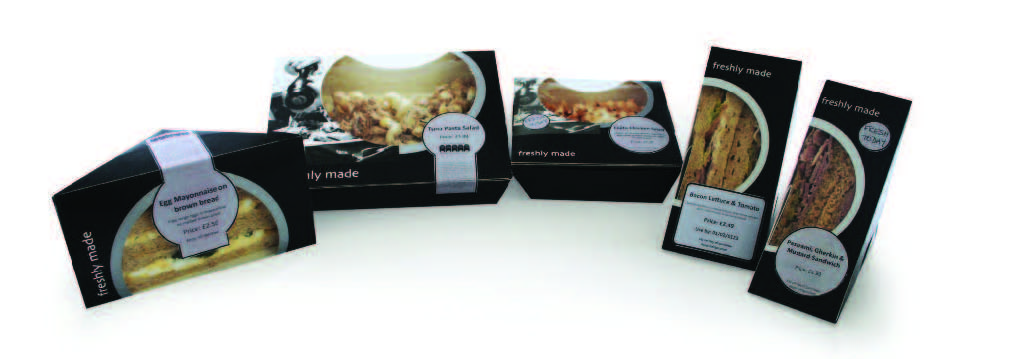 Label 2 Go black and silver food packaging labels