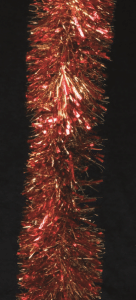 gold and red tinsel