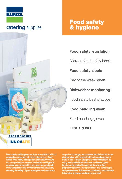 New food safety and hygiene e brochure launched bunzl for Hygiene cuisine