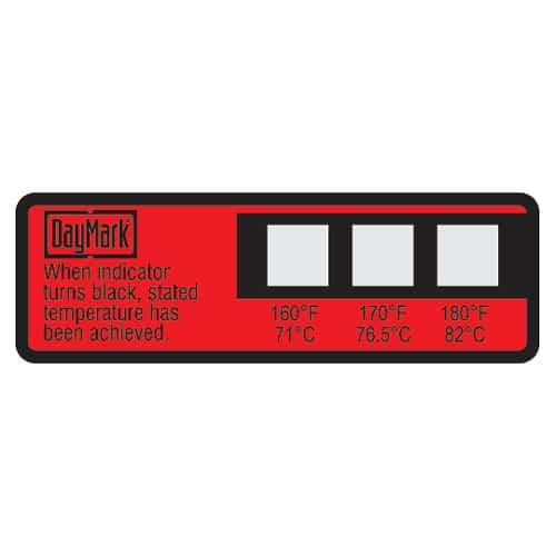Dishwasher Temperature Label