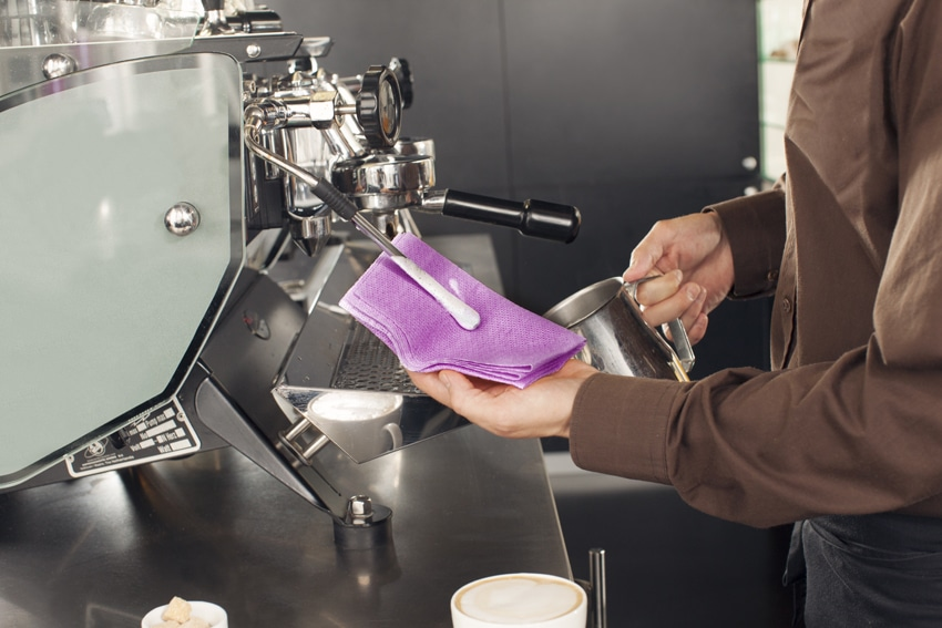 Chicopee Purple Coffee Towel