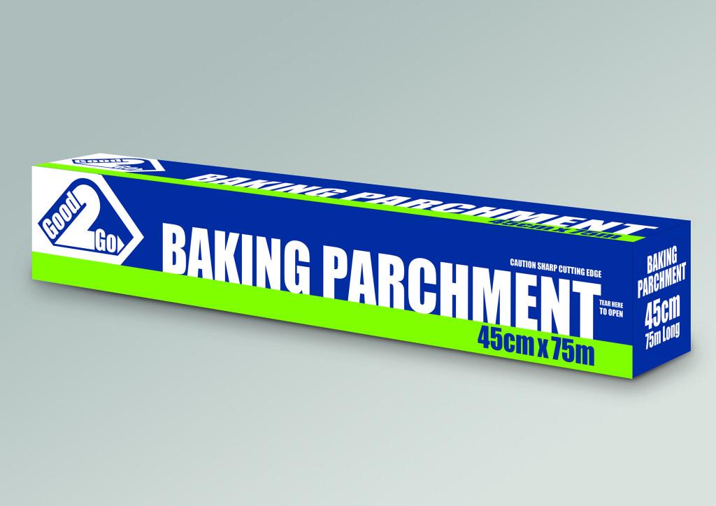 Good to go 3D box 45cm Baking Parchment VISUAL
