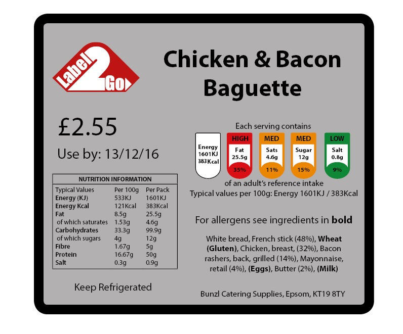 Food packaging labels Archives - Bunzl Catering Supplies