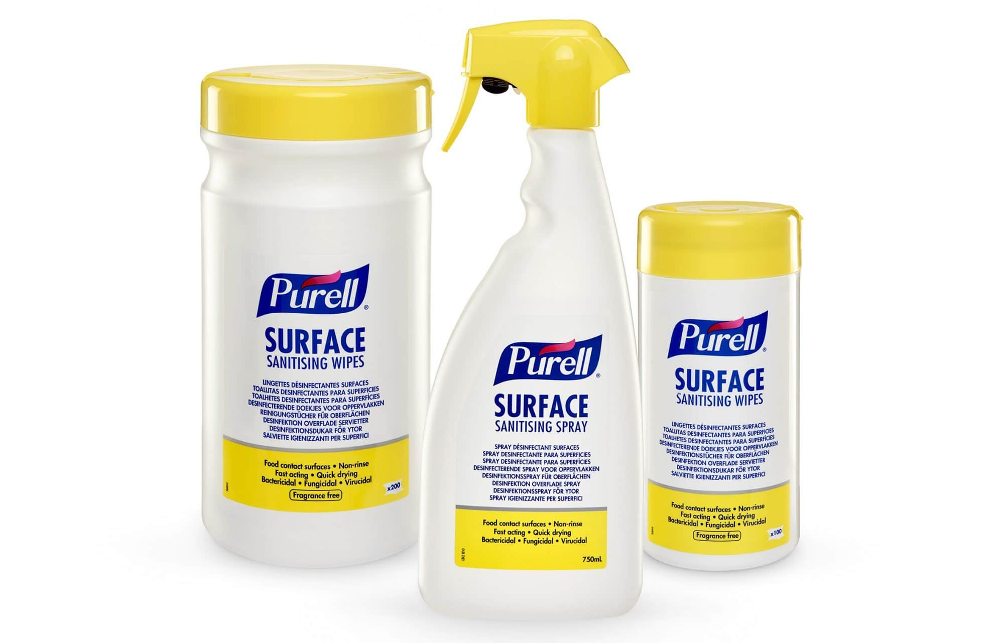 PURELL Surface Sanitising Spray & Wipes launched to address a